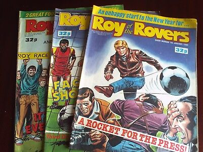 3X ROY OF THE ROVERS, JAN 7th. 14th. FEB 4th. 1989