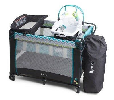 Ingenuity baby smart and simple play yard multicolor playpen bassinet seat