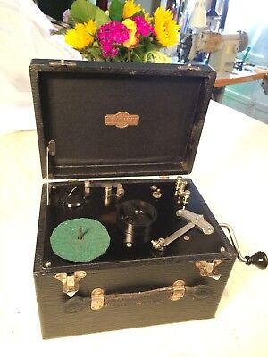 VINTAGE INSTRUCTOGRAPH Morse code telegraph machine Tube amplifier reel to reel