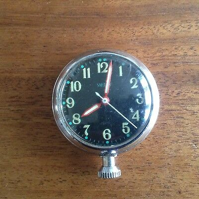 Smiths Vintage Chrome Rally Dashboard Clock - Collectable