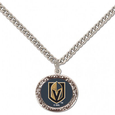 57ae58d0d Vegas Golden Knights Necklace with Logo Charm NHL Hockey Licensed Product