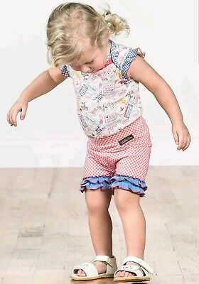 NEW Girls Matilda Jane Wish you were here Mile Marker Shortie Shorts Size 6-12 M