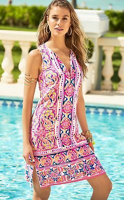 d08145ba31ee13 Lilly Pulitzer Carlotta Stretch Shift Dress, Rock House, Pink Fusion, 6, NWT