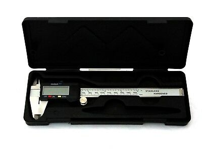 Digital Caliper Measures Mm-Inches Stainless Steel Shaft