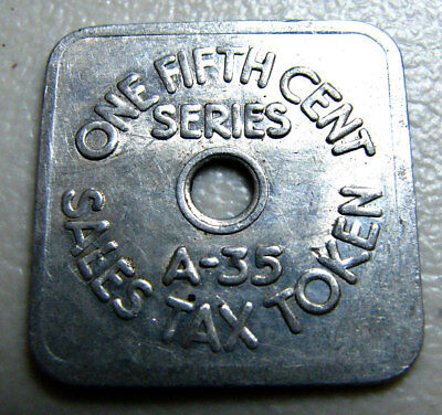 Colorado State Treasurer Sales Tax Token A35 – One-Fifth Cent
