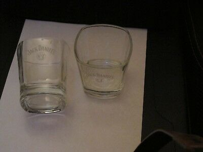 Jack Daniels Pair Of Rock's Glasses / Tumblers