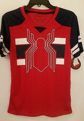 NWT Boy's Spider-Man Jersey Shirt size Youth L - New - Marvel Comics