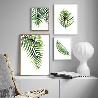 Watercolor Plants Leaf Canvas Posters Prints Nordic Wall Art Painting Decoration