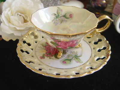 Japanese China England Floral Cup And Saucer