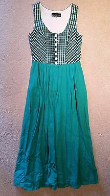 Green with White Berwin & Wolff size 38 Dirndl