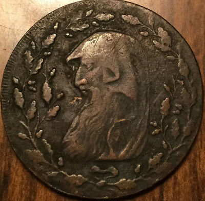 1793 Uk Gb Great Britain Druid North Wales Halfpenny Token