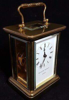 Stunning Matthew Norman London Carriage Clock See description