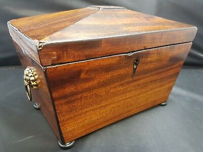 Victorian Wooden Tea Caddy lids but no liners approx 22.5cms x 15cms max P00158