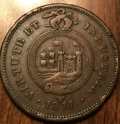 1811 Uk Gb Great Britain Bristol And Southwales One Penny Token