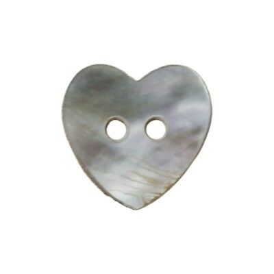 Lot 100 Mother of Pearl Heart Shell Sewing Buttons 15mm HOT C T9F8