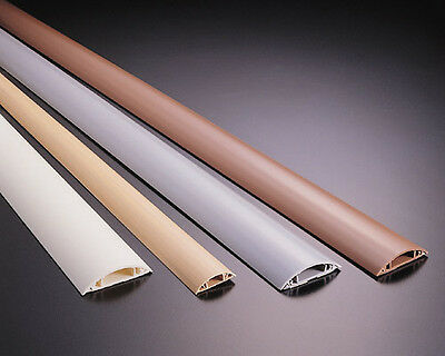 1M Floor Cable Channel PVC or Aluminum Self Adhesive in Various Spread