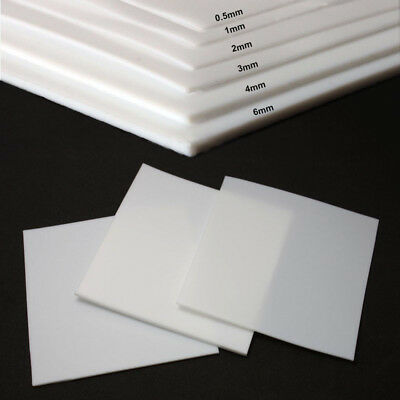 New PTFE Teflon Film Sheet High Temperature Plate Plastics 0.5/1/2/3/4/6mm Thick