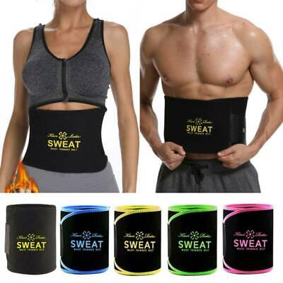 Neoprene Waist Trainer Belt Sweat Trimmer Body Shaper Weight Loss Slim Men Women