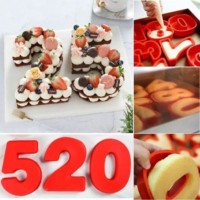 Large Silicone Number Cake Mould Birthday Party Baking Mold Anniversary New