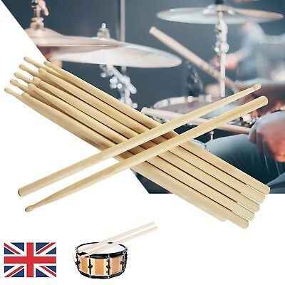 "High Quality Wood Premium Percussion Feel Drum Sticks 5A 16"" Drumsticks Maple UK"