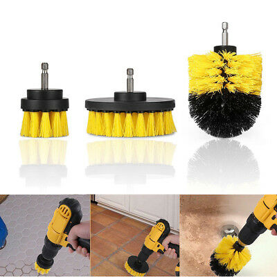 3Pcs Electric Drill Cleaning Brush Wire Scrubbing Brush Car Tires 2''+ 3.5''+5''