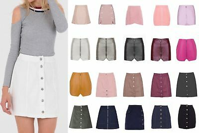 4d33b5ee10 Mini Denim Suede PU Front Zip Button Down Side Button Brocade Wrap Pencil  Skirt