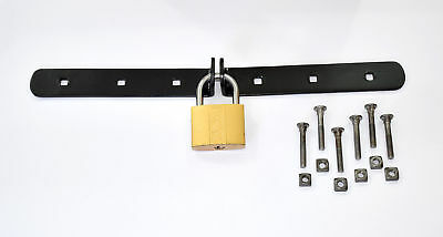 Hasp Locking Security Bar Van, Gate, Garage Door & Shed Heavy Duty for Padlock