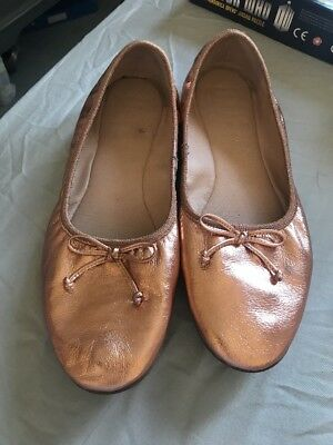 Next Size 8 Rose Gold Slip On Shoes