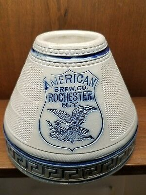 American Brewery advertising stoneware match Striker  A+