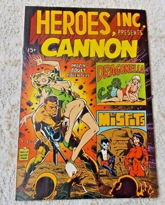 HEROES, INC Presents: CANNON #1 (8.5=VF+); Wally Wood (1969); I Combine!