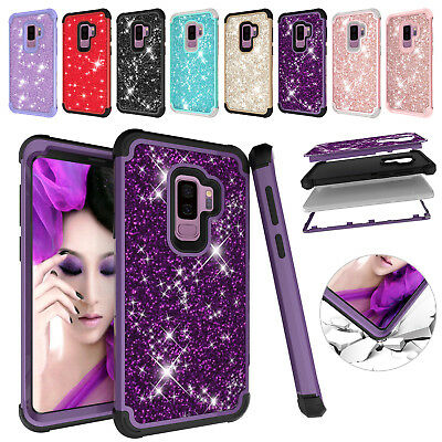 Bling Glitter Heavy Duty Hybrid Silicone Hard Case Cover For Samsung S9+ Note 9