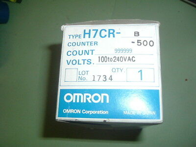 Omron.....h7Cr B 500 ..........................counter 100-240 Vac New  Packaged