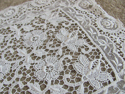 STUNNING LOT* Early 1900s POINT de VENISE LACE DOILIES w/EMBROID ROSES $23.00