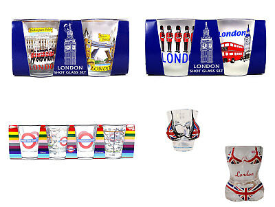 Union Jack London Iconic Shot Glasses Perfect Souvenir Collectable Gift Uk
