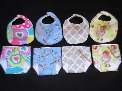 """Hasbro 16"""" Baby Alive Lot Washable Flannel Diapers And Bibs"""