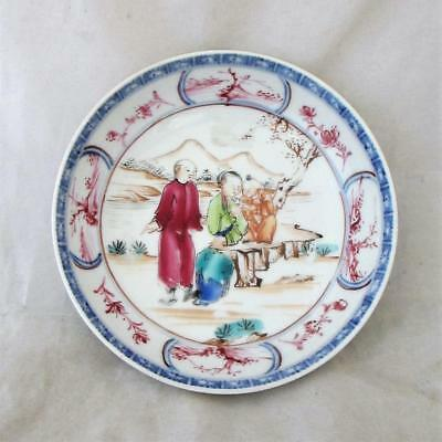 Chinese Famille Rose Small Dish Qianlong Period Antique c1736-1796 JTR03454