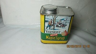 Vermont Pure Maple Syrup Tin, Empty, Quart