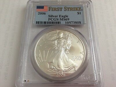 2006 Silver American Eagle MS-69 PCGS $1 (First Strike)