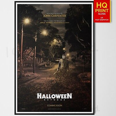 Halloween 2018 Horror Movie Poster Laurie Strode Film | A4 A3 A2 A1 |