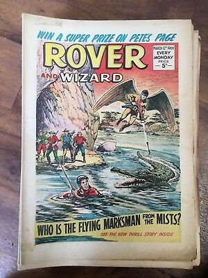 Rover and Wizard 1966 Complete Year 52 Issues