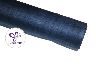 Sinamay Fabric for Millinery Hat Making Stiffened Navy Blue Sinamay Fabric
