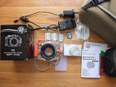 FujiFilm XQ1 12MP Camera & WP-XQ1 Underwater Housing Dive Bundle