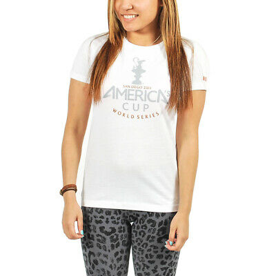 WOMEN S PUMA America s Cup San Diego Tee T-Shirt White size S (T46 ... afb0fea922