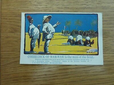 Original Advertising Postcard Cobbeldick Of Wam-Wam In C B Fry's Magazine Unused