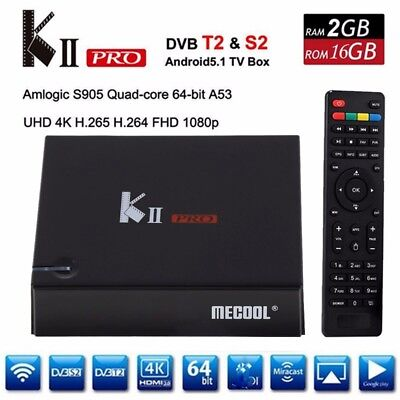 K 2 Pro Tv Box Android 7.1.2 Dvbs2 + Dvbt2 S905D 4K Streamer