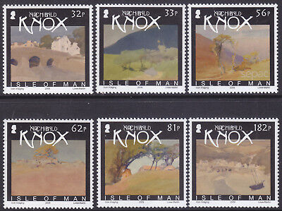 I O M 2009 Watercolour Paintings by A Knox Set UM SG1542-7 Cat £10.50