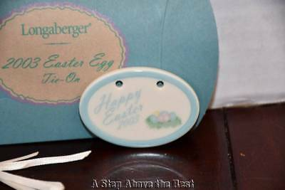 Longaberger 2003 Easter Tie On #28691 NEW