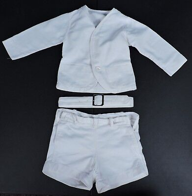 1920'S 3 Pc Boy'S White Textured Belt Back Suit