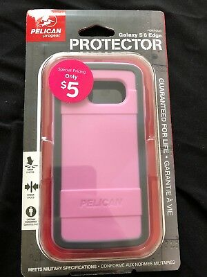 NEW Pelican Progear Protector Samsung S6 Edge Cover Case Pink / Gray.
