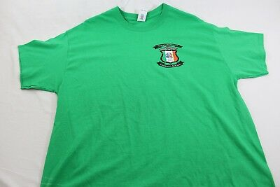 Norwalk CT Police Dept Emerald Society St Patrick's Day XL green shirt